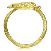 Gold Double Leaf Ring