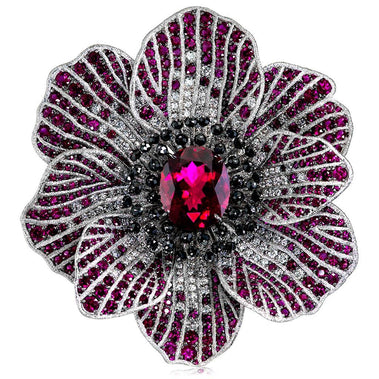 Tourmaline Ruby Diamond Gold Coronaria Necklace Pendant