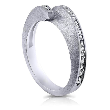 Dance Of Life Diamond Back Wedding Band