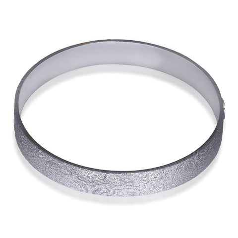Sterling Silver and Platinum Cora Bangle