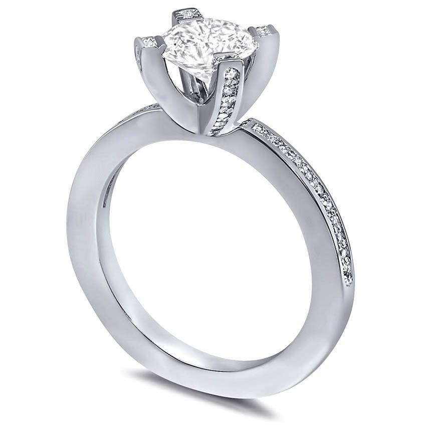 Princess Diamond Millennial Sphere Engagement Ring