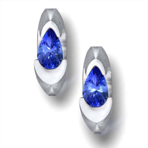Passion Tanzanite White Gold Stud Earrings