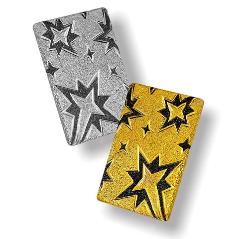 STERLING SILVER AND GOLD STAR EARRINGS