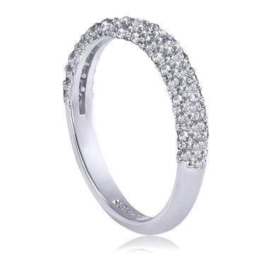 Stardust Diamond Crescent Wedding Band