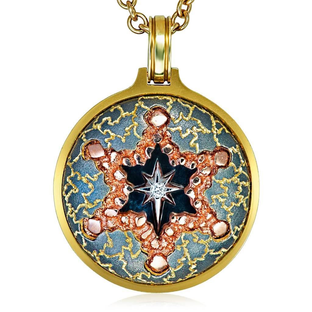 Gold Star Of David Pendant/Necklace Diamonds