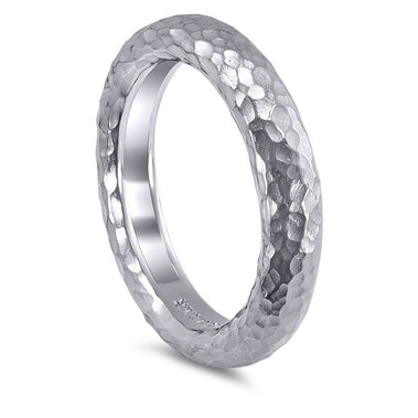 Valentine Organic Texture Wedding Band