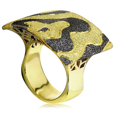 Sterling Silver Gold Platinum Cora Ring