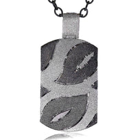 Silver Leaf Tag Pendant/Necklace On Chain