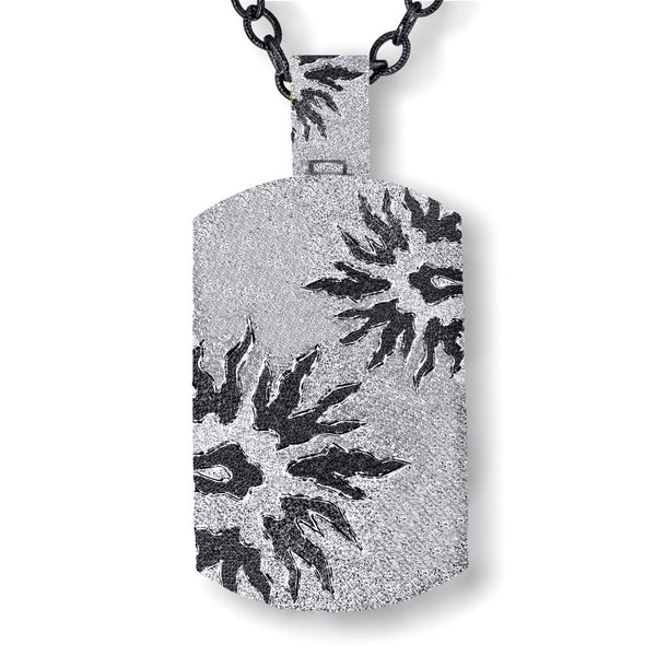 Silver Sun Tag Pendant/Necklace On Chain