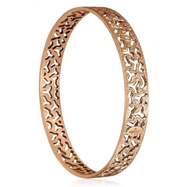 Rose Gold Textured Bangle Bracelet