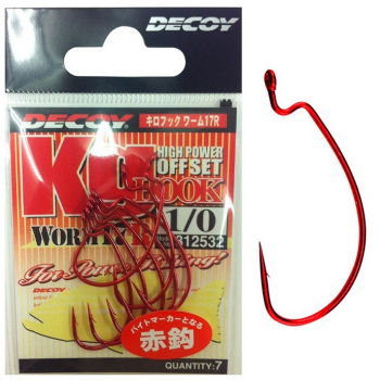 Worm17R Kg Hook Red
