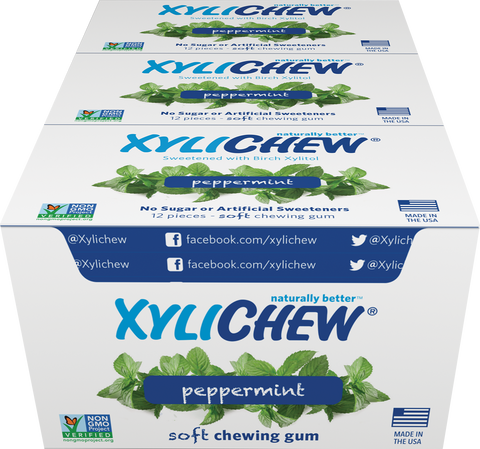 Xylichew - Peppermint 24 Pack Case