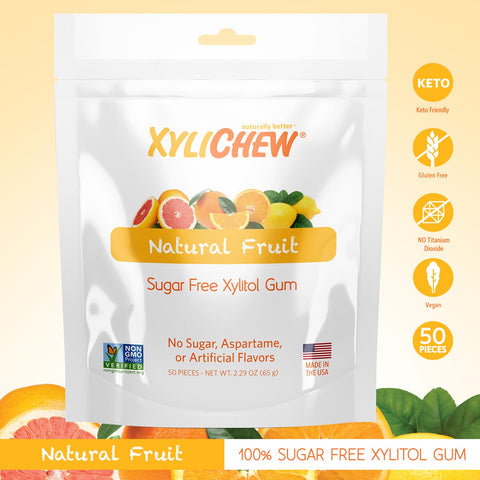 Xylichew Xylitol Gum - Fruit - 50 Pieces