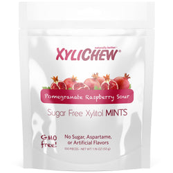 Xylichew - Raspberry Pomegranate Xylitol Mints - 100 Pieces