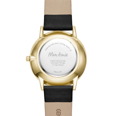 Mon Amie Launch Education Black Leather Watch