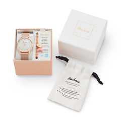 Mon Amie Iconic Health Rose Gold-Tone Stainless Steel Watch and Bracelet Set