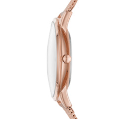 Mon Amie Iconic Opportunity Rose Gold-Tone Stainless Steel Watch and Bracelet Set