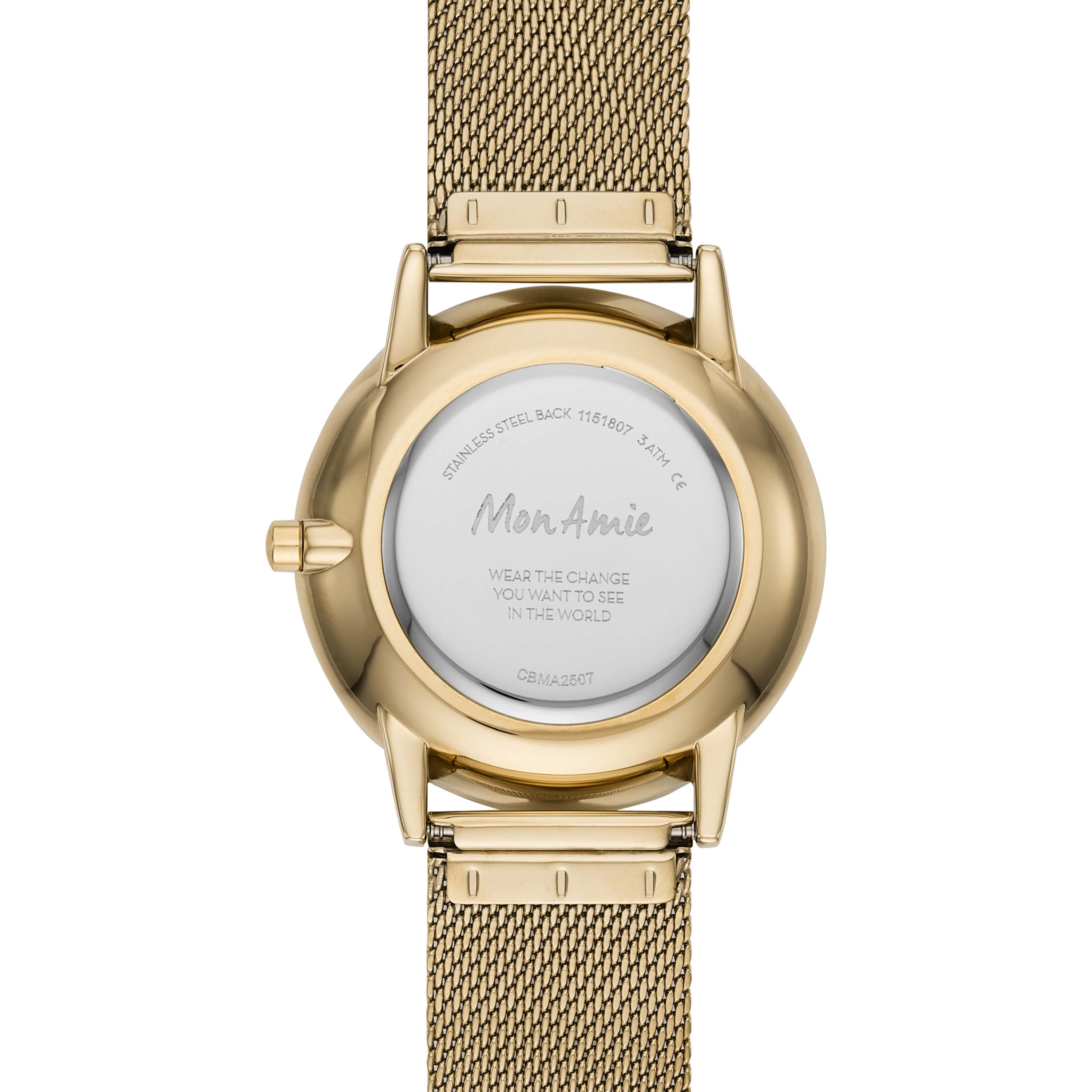 Mon Amie Iconic Health Gold-Tone Stainless Steel Watch and Bracelet Set
