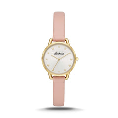 Mon Amie Opportunity Blush Leather Watch