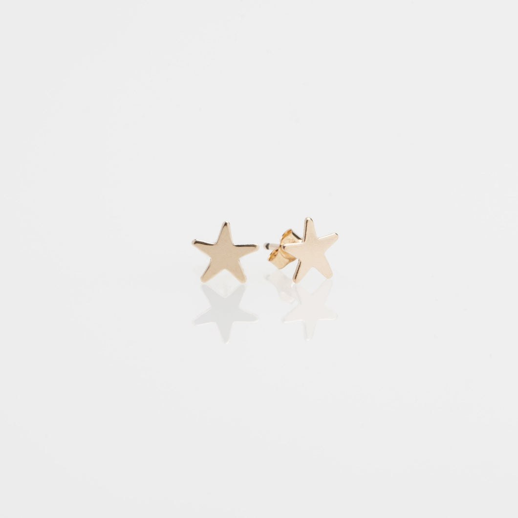 14kt gold filled 6.5mm star stud earrings