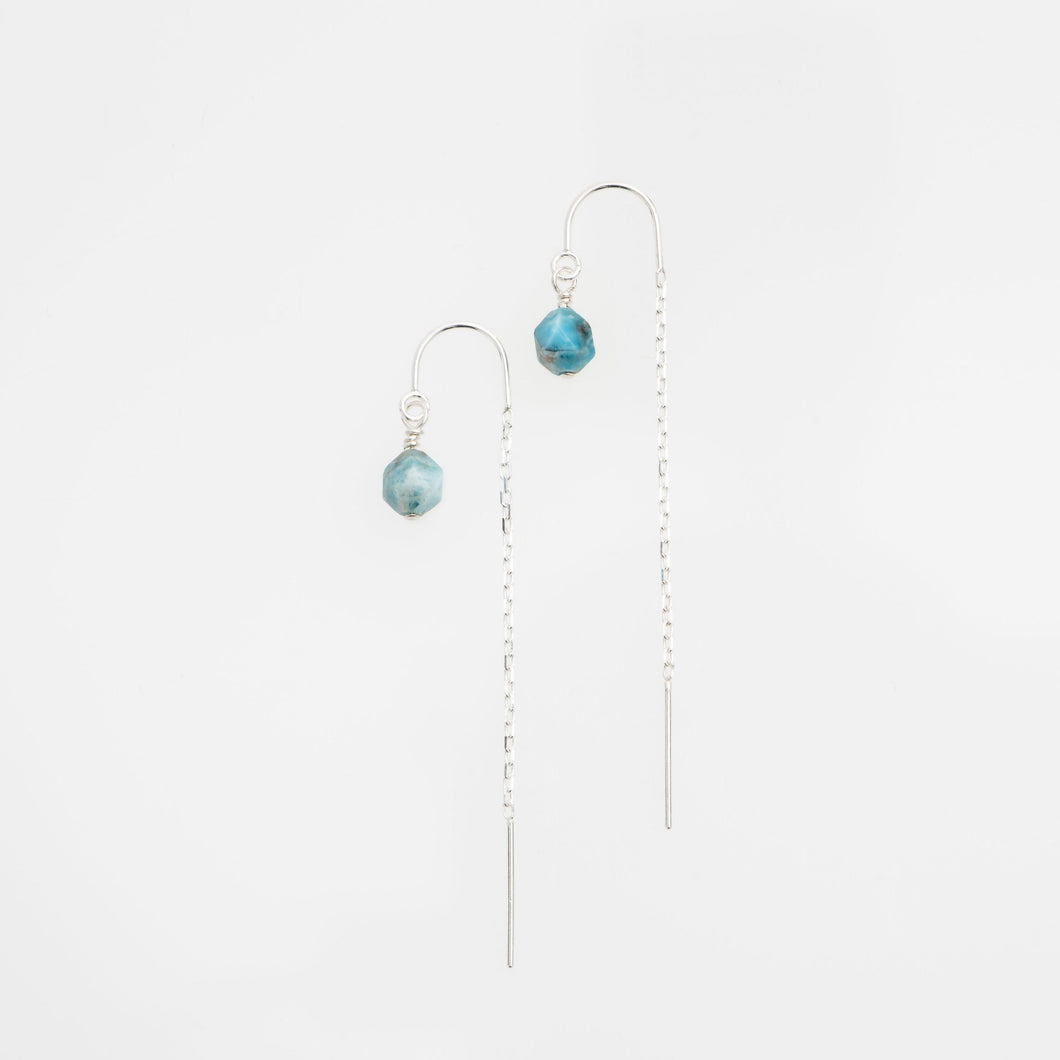 Light Apatite sterling silver earring threads