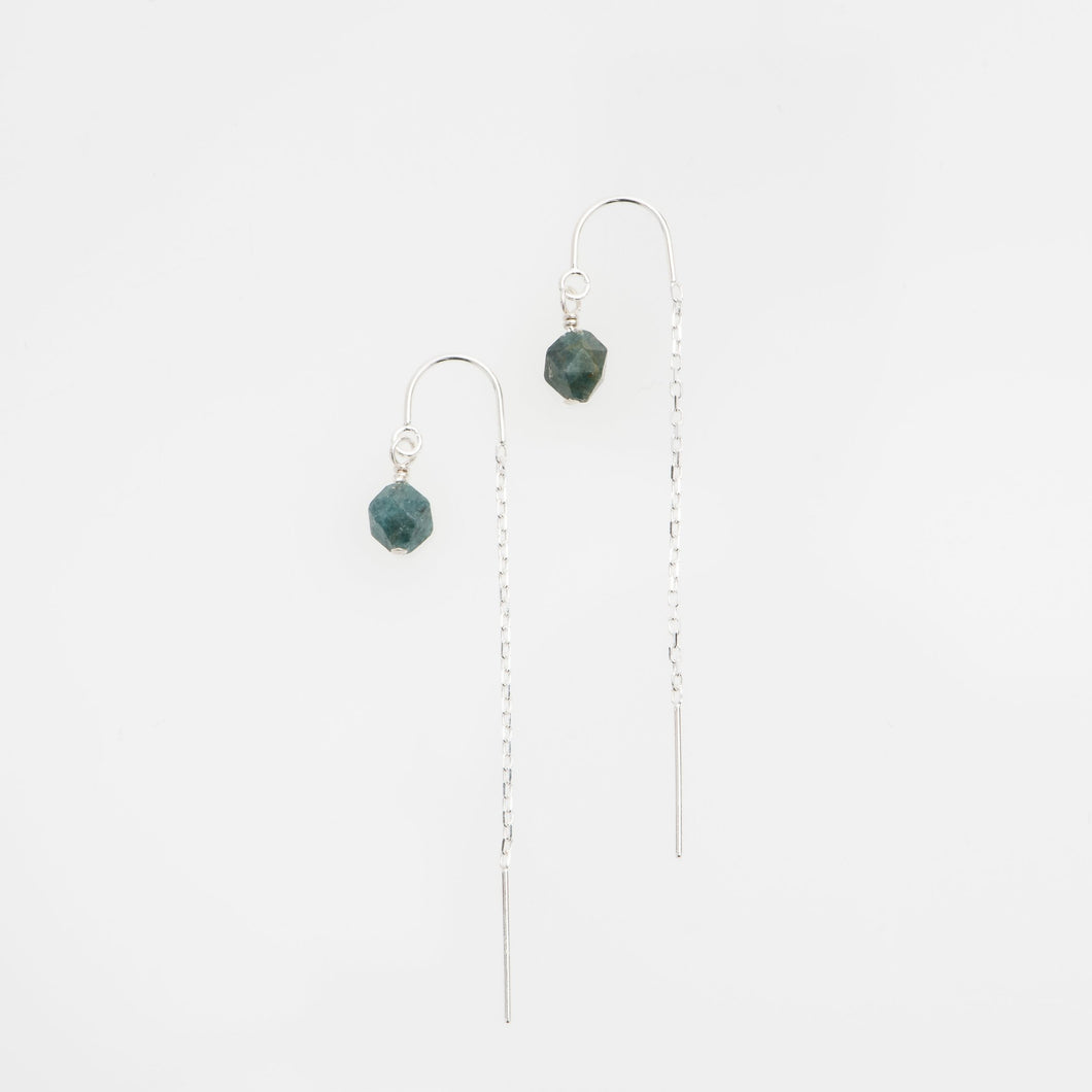 Light Apatite gold filled earring threads