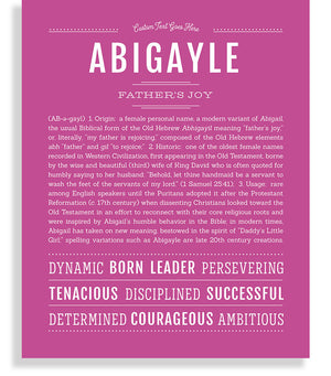 Abigayle | Classic Name Print - Name Stories