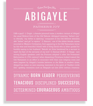 Abigayle Classic name print light pink