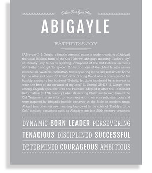 Abigayle Classic name print light gray