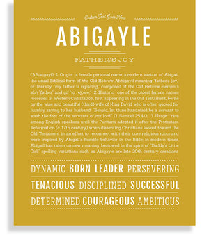 Abigayle Classic name print gold