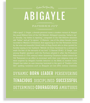 Abigayle Classic name print light green