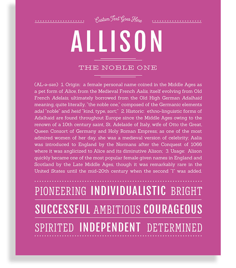28++ Meaning of the name allison ideas in 2021