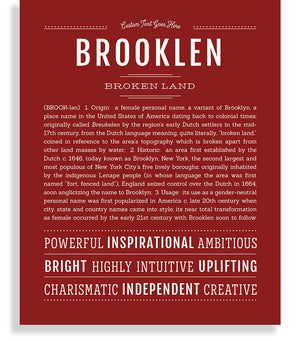 Brooklen Classic name print deep red