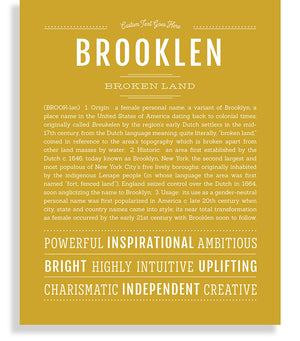 Brooklen Classic name print gold
