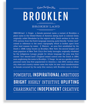 Brooklen Classic name print royal blue