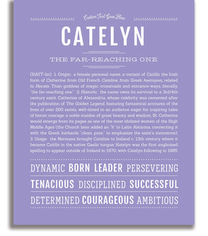 Catelyn Classic name print lavender