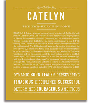 Catelyn | Classic Name Print - Name Stories