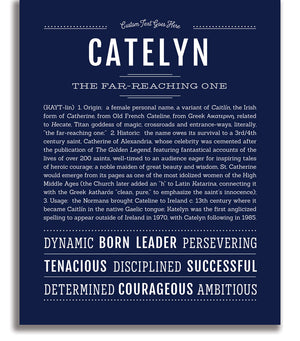 Catelyn Classic name print navy blue