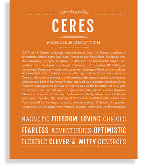 Ceres Classic name print orange
