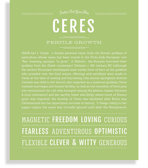 Ceres Classic name print light green