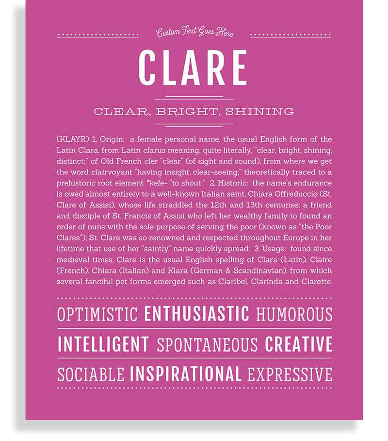 Frame Options | Dark Pink | No Frame
