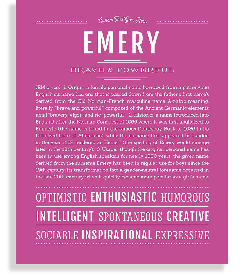 30+ Emery name meaning information