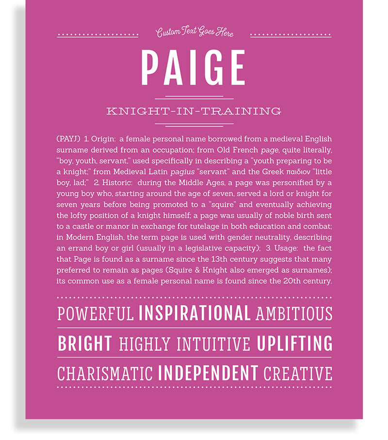 37++ Paige the meaning info