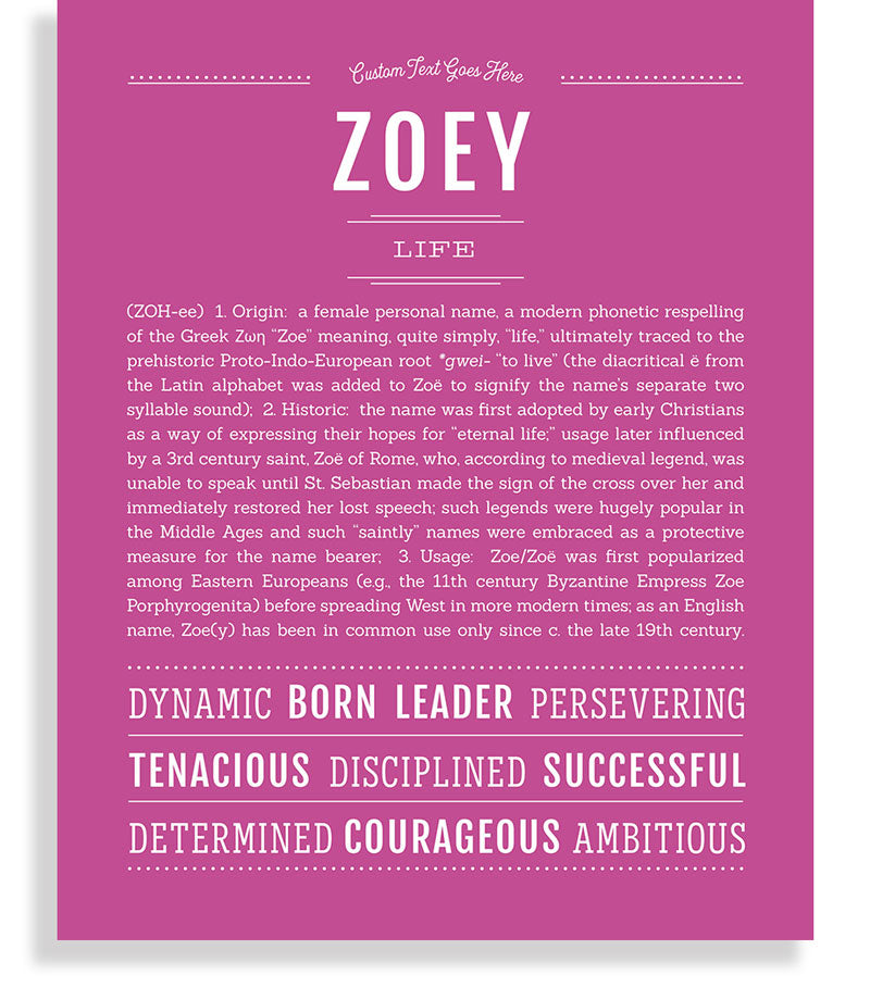 48++ Zoey names meaning info