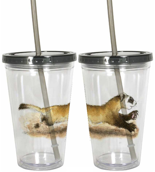 Black Footed Ferret Tumbler