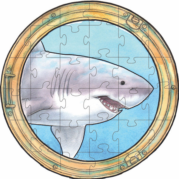 Great White Shark Round Puzzle