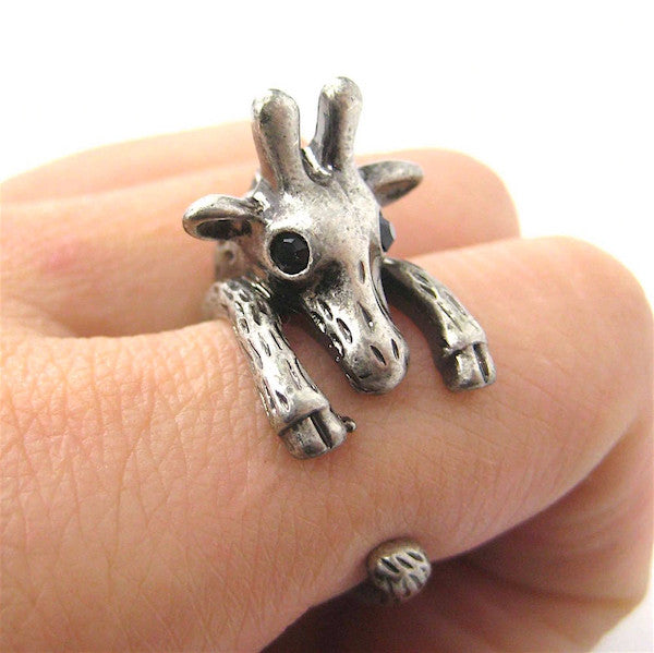 Giraffe Wrap Ring White Bronze