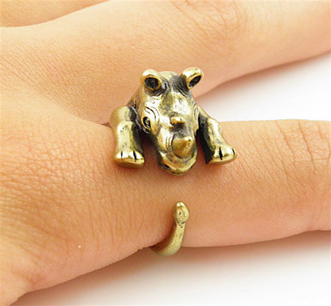 Rhino Wrap Ring Yellow Bronze
