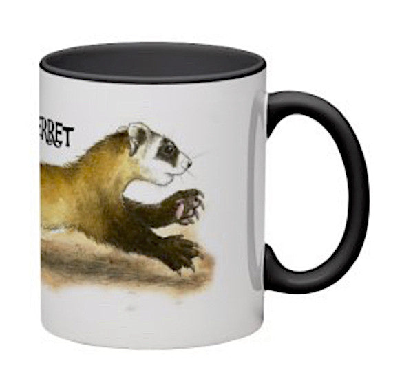 Black Footed Ferret Mug