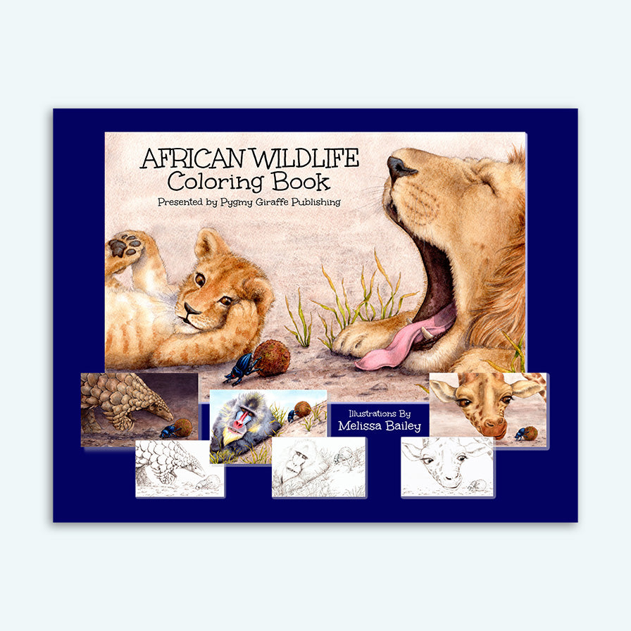 African Wildlife Coloring Book